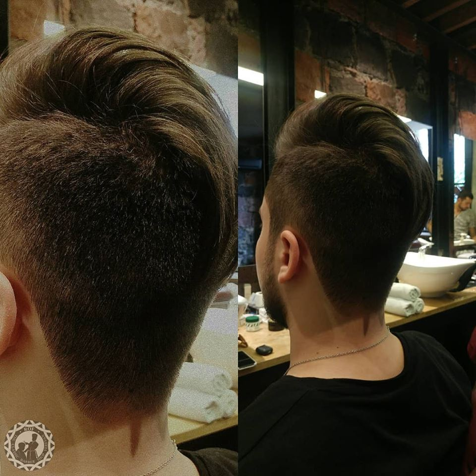 Coiffure pour hommes whisky rasГ©