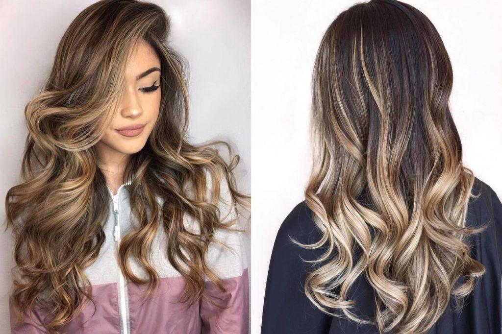 Balayage 2021 sur cheveux longs blonds