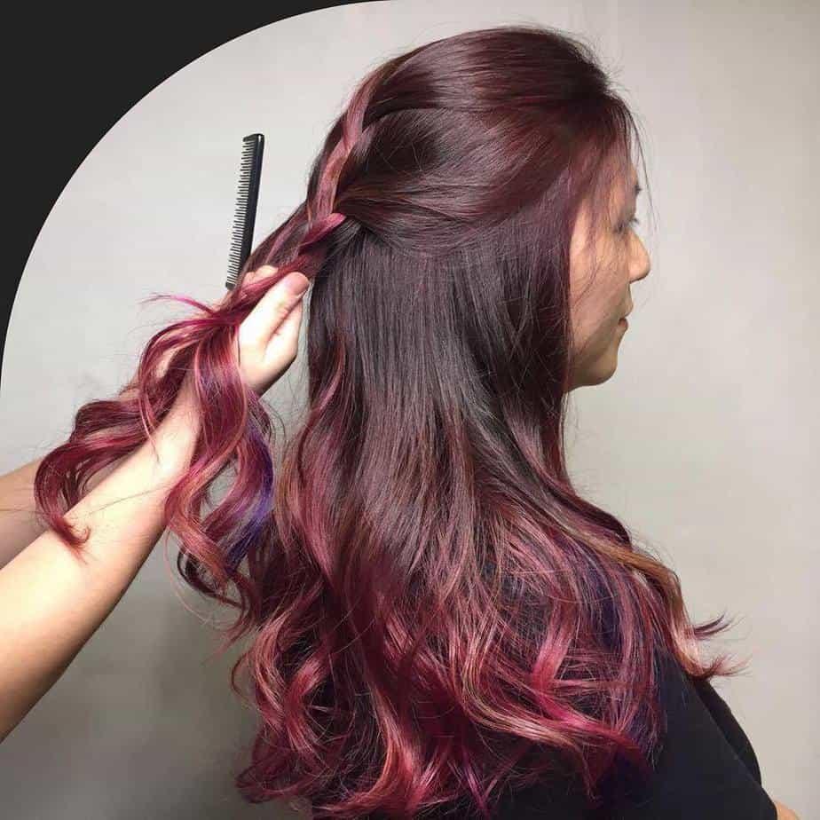 Balayage 2021 pour les cheveux longs foncés