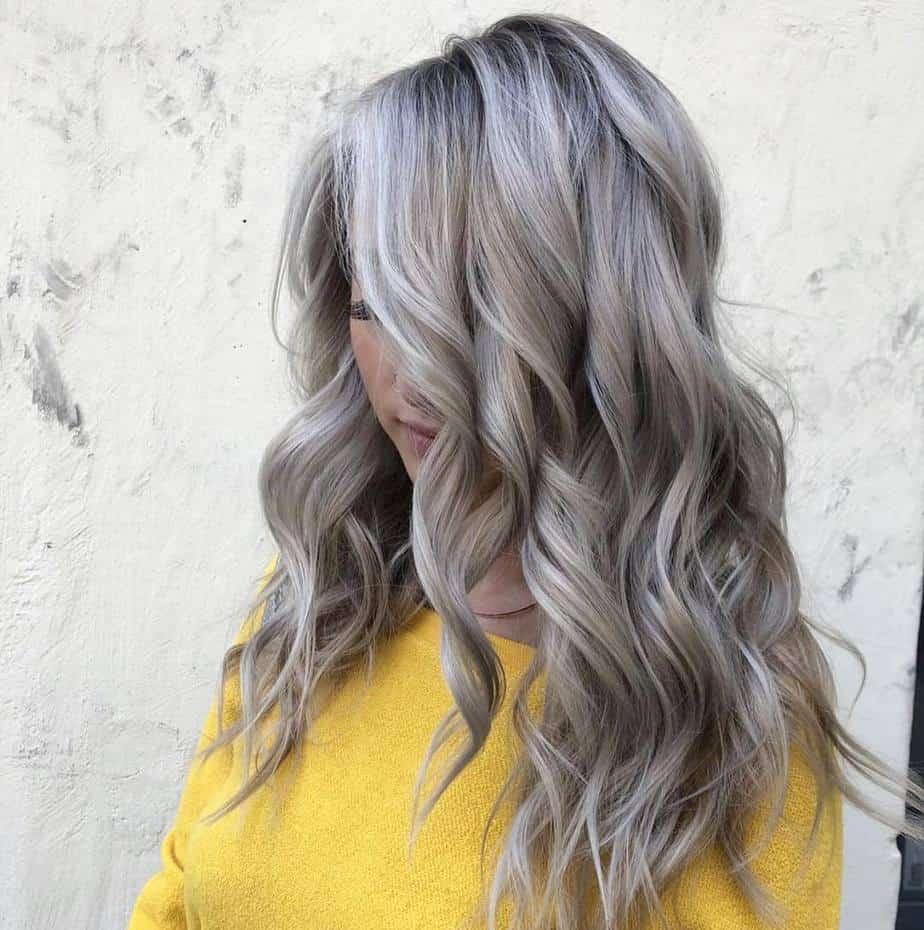 Balayage blond cendré 2021