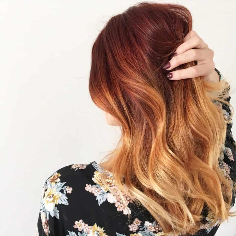 Coiffures Cool Ombré 2021: Du rouge foncé au blond